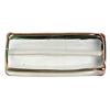 Glass Lamp Bead Prism 32x14x8mm Crystal/Bronze